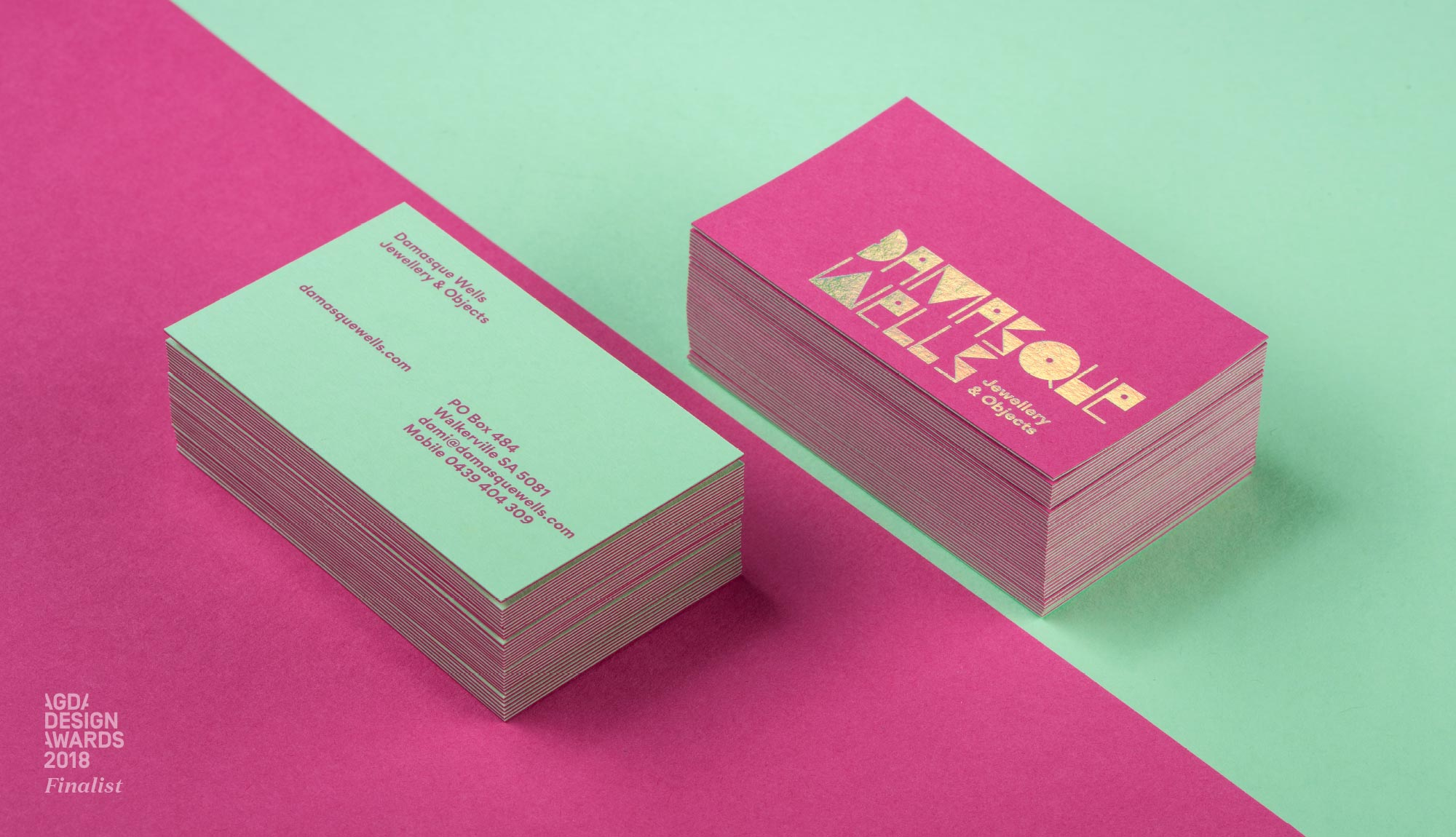Damasque Wells branding and business cards