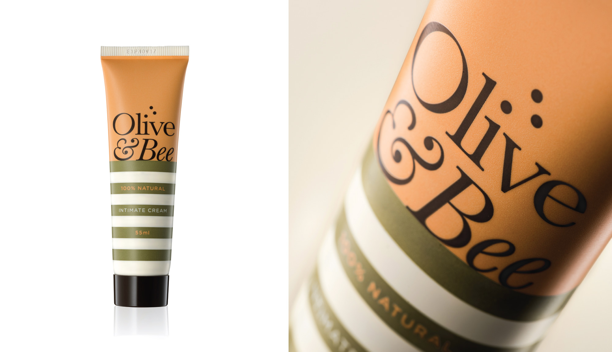Olive & Bee packaging
