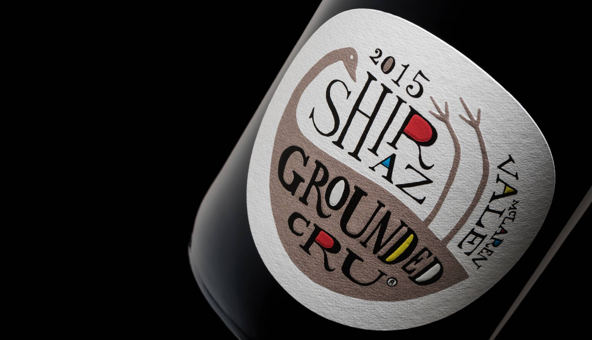 Grounded Cru wine label